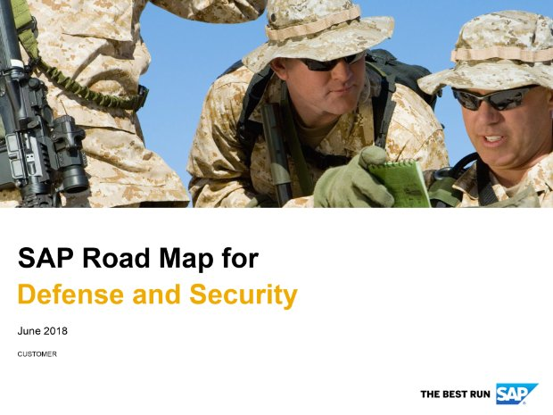Screenshot from the defense and security road map