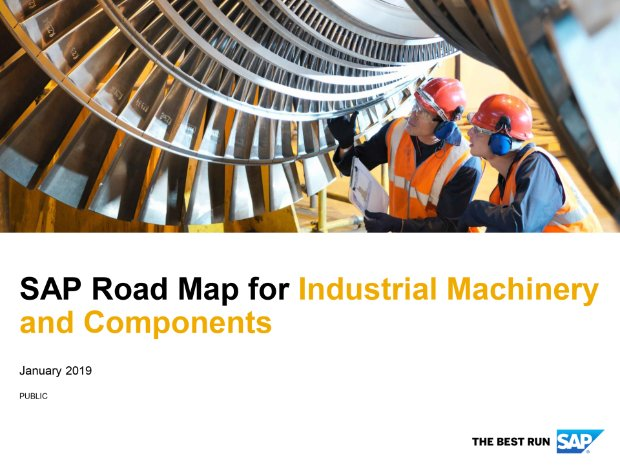 Screenshot from the industrial machinery and components road map
