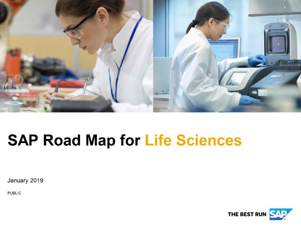 Screenshot from the life sciences road map