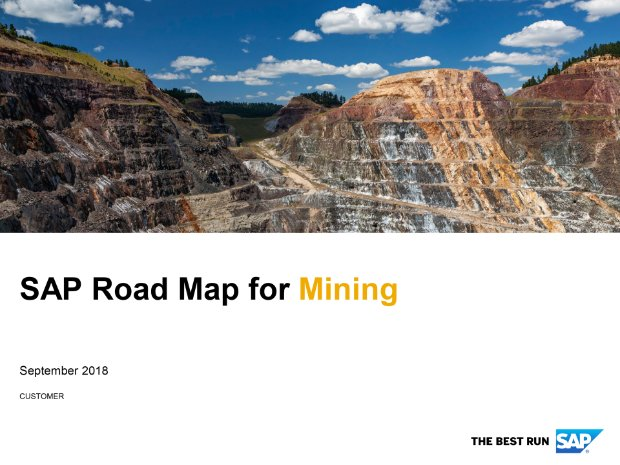 Screenshot from the mining road map