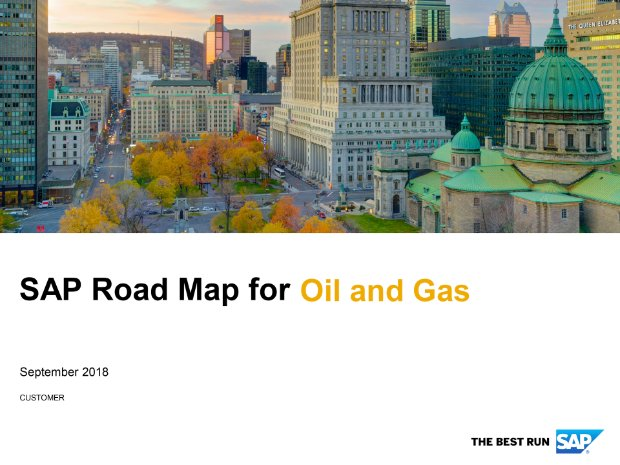 Screenshot from the oil and gas road map