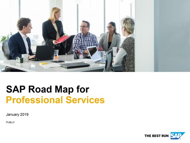 Screenshot from the professional services road map
