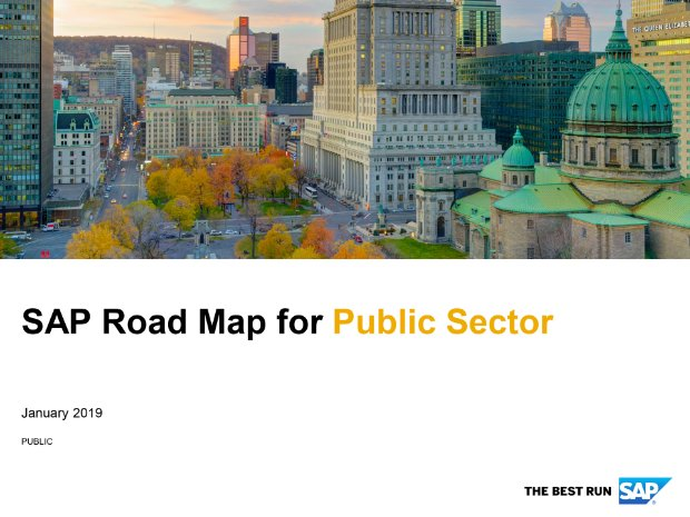 Screenshot from the public sector road map