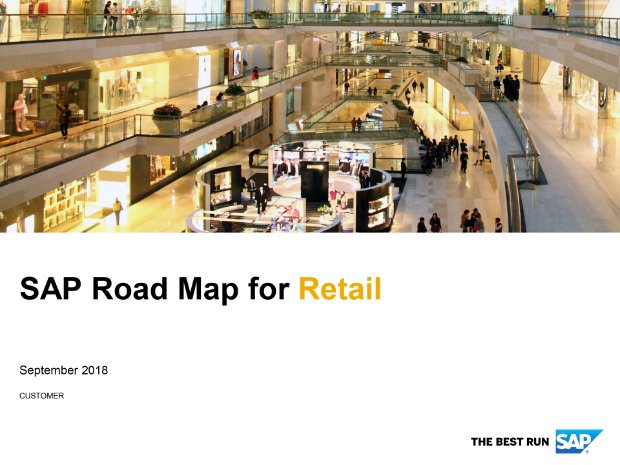 Screenshot from the retail road map