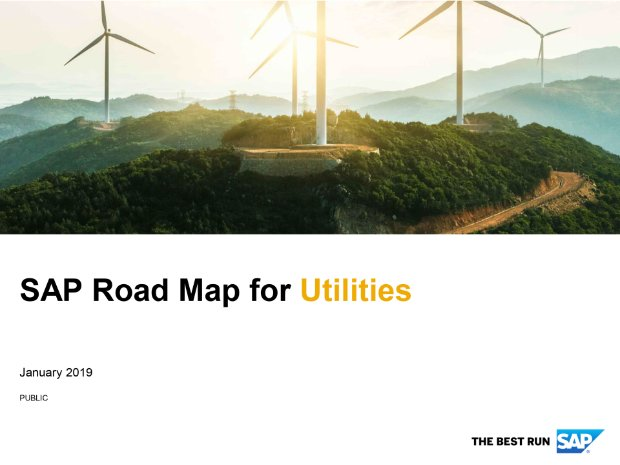 Screenshot from the utilities road map
