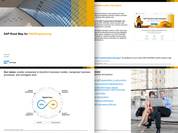 Screenshot from the SAP Portfolio and Project Management roadmap