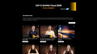 Image of SAP lookbook video website
