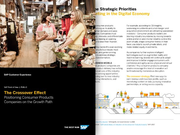 Screenshot from an SAP point of view on the crossover effect in consumer products