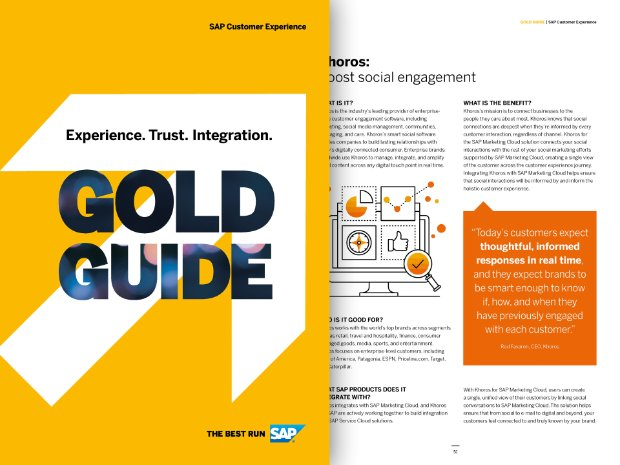 Captura de tela do Guia de Ouro do SAP Customer Experience