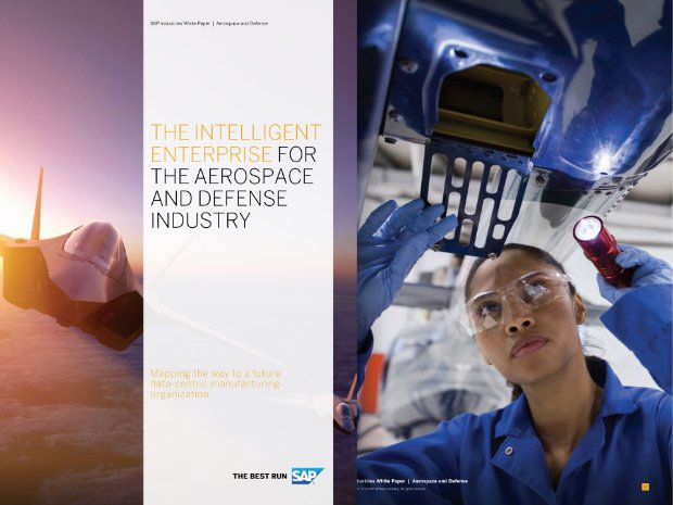 Screenshot of a white paper on the aerospace and defense industry thriving in a digital world