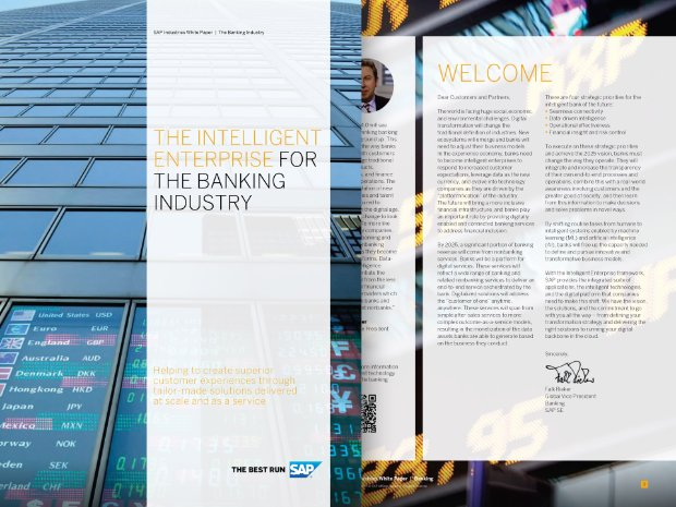 Screenshot from a white paper exploring intelligent enterprises in banking