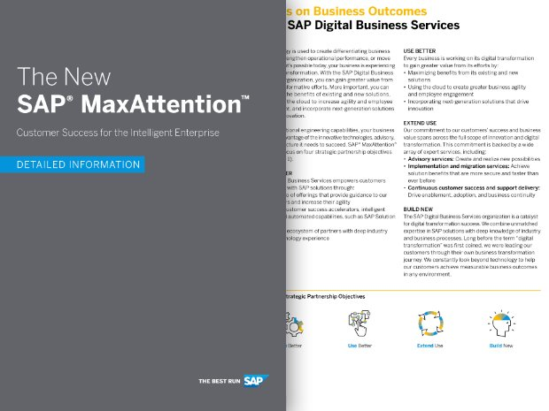 Screenshot of a brochure about SAP MaxAttention