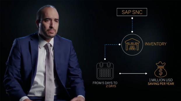 Captura de tela do vídeo sobre a Vestel Elektronik, cliente SAP que usa o aplicativo SAP Transportation Management
