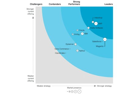 Screenshot from The Forrester Wave: B2B Commerce Suites report