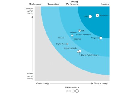 Screenshot from The Forrester Wave: B2C Commerce Suites report