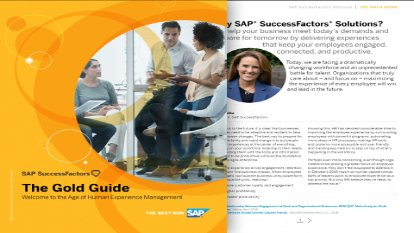 Screenshot of the the Gold Guide that discusses the HR portfolio