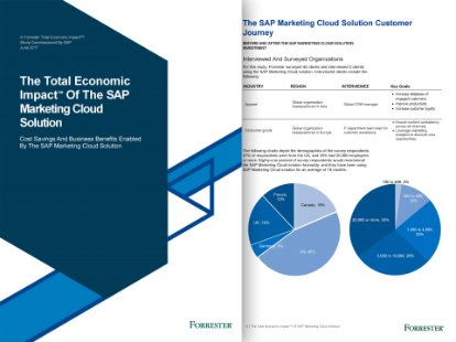 Screenshot from a Forrester report on the economic impact of SAP Marketing Cloud