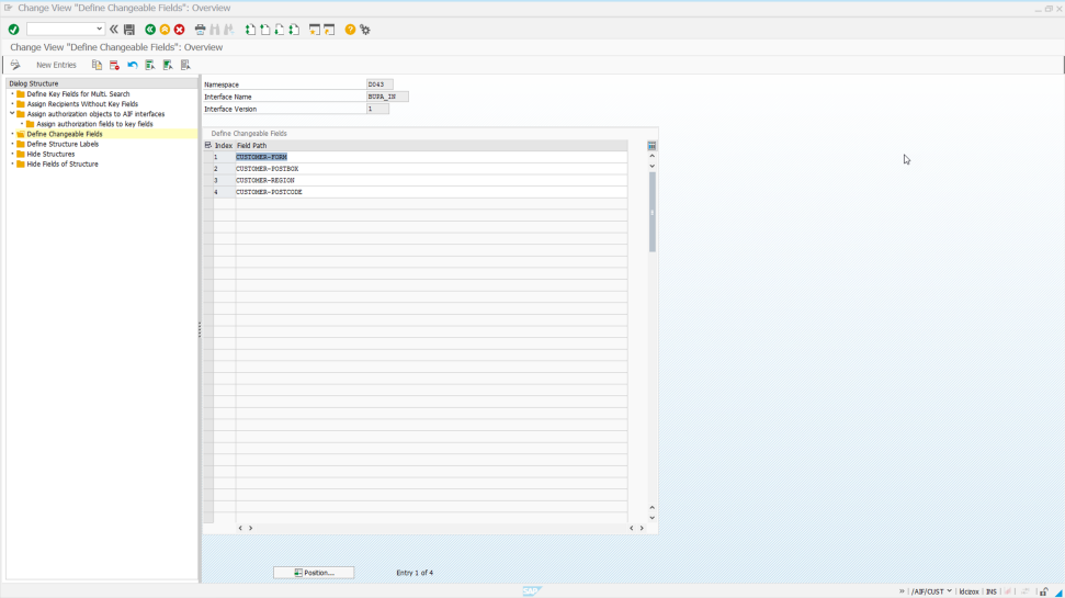 Screenshot of SAP Application Interface Framework being used by a company to simplify application interface management