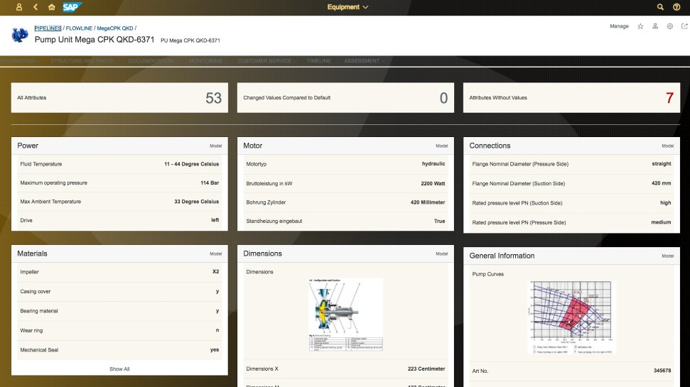 Screenshot of the SAP Asset Intelligence Network software in use