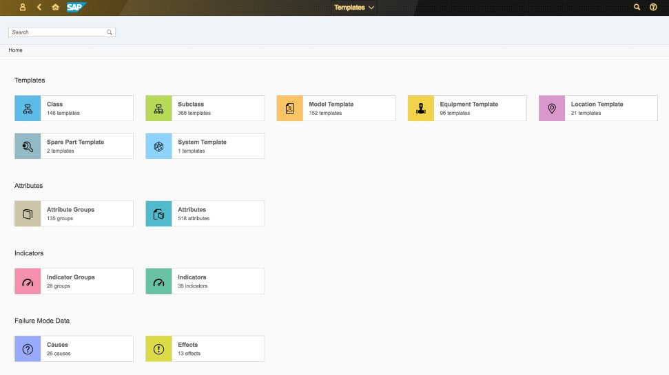 Screenshot of the SAP Asset Intelligence Network
