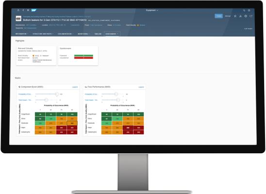 Screenshot of  SAP Asset strategy and Performance Management