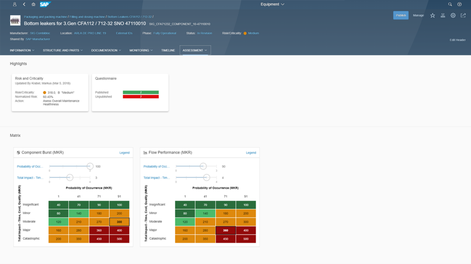 Screenshot of SAP Asset Strategy an Performance Management
