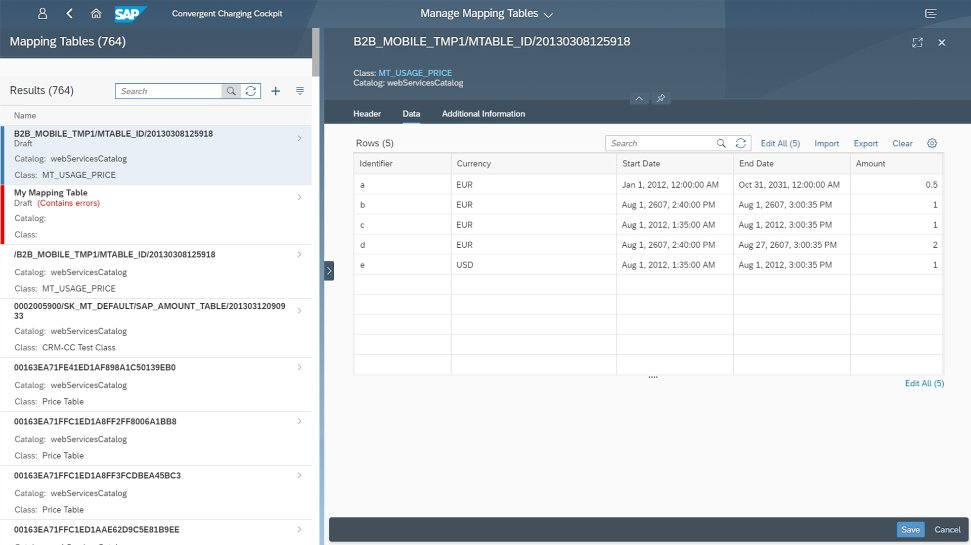 Screenshot of SAP Billing and Revenue Innovation Management solution