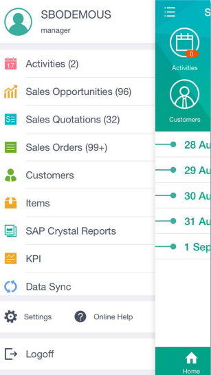 Screenshot of SAP Business One, on-premise or cloud ERP software for small businesses
