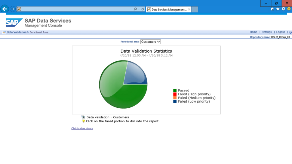 Screenshot of the data integration and data quality management capabilities of SAP Data Services software