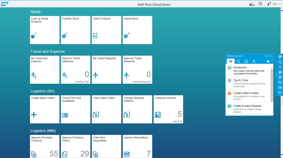 The SAP Enable Now solution in action, creating e-learning tools and training