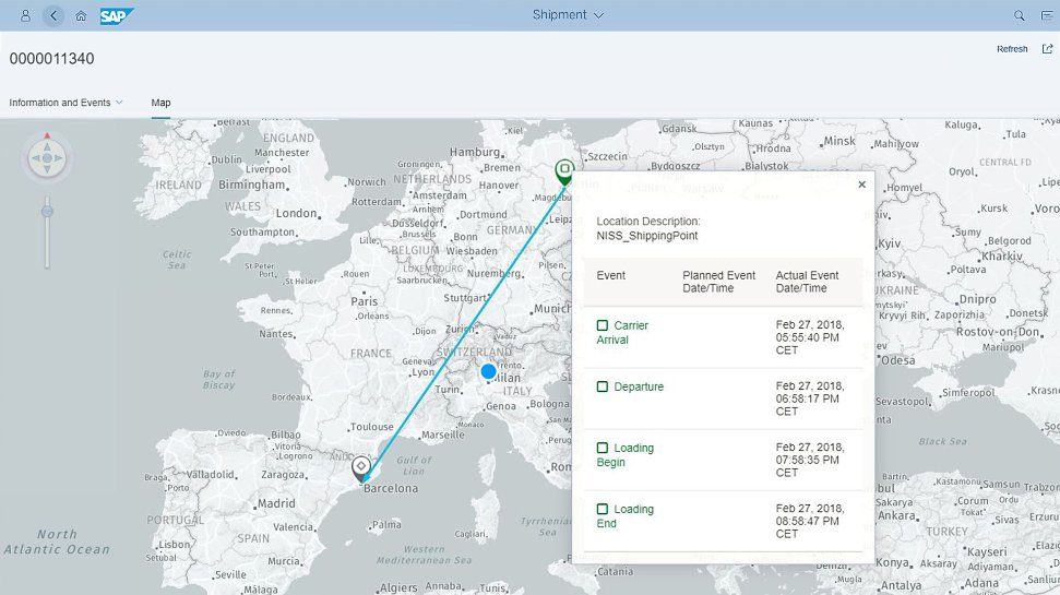 Screenshot of SAP Global Track and Trace solution