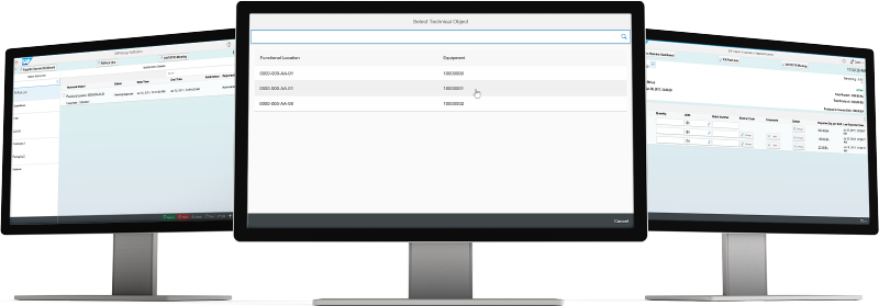 Screenshots of  SAP Manufacturing Integration and Intelligence software