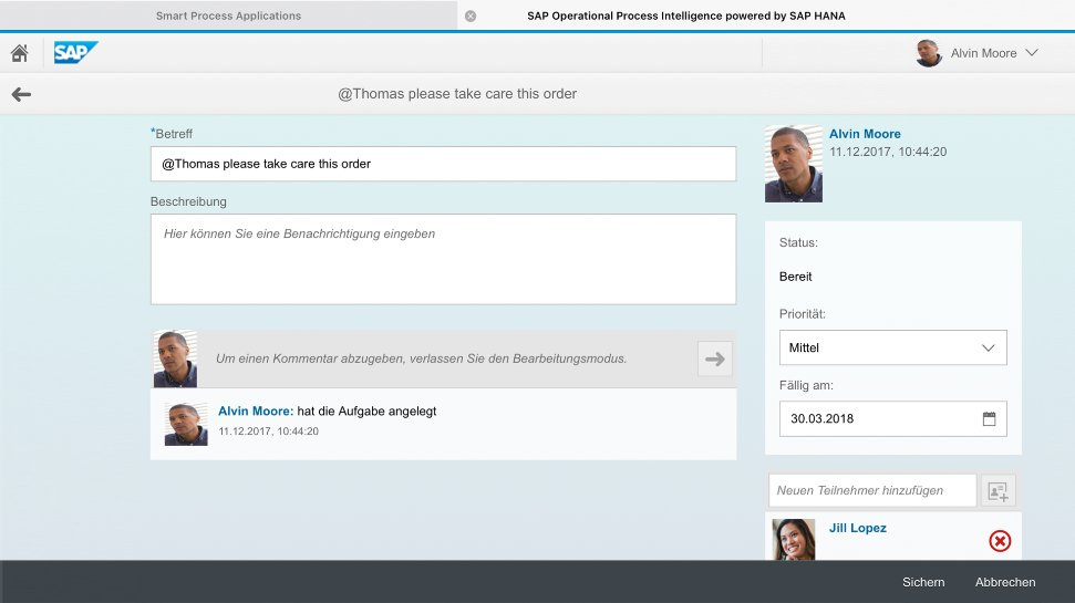 Screenshots of SAP Operational Process Intelligence being used by a business to monitor end-to-end processes