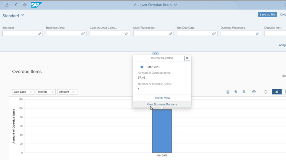 Screenshots of SAP S/4HANA Cloud for contract accounting and invoicing software