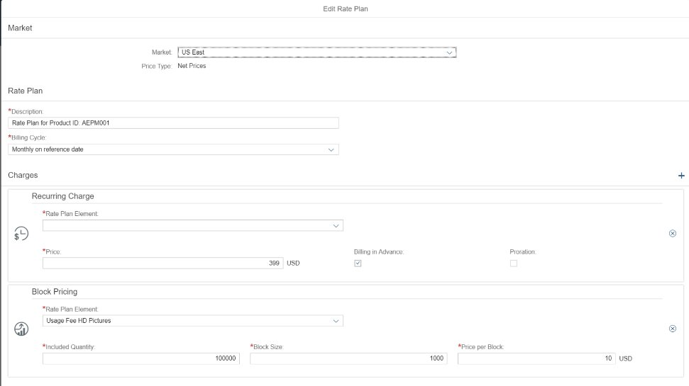 Screenshot of SAP Subscription Billing used to design business models with flexibility