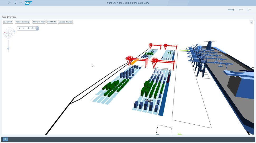 Screenshot of rail yard management capabilities of SAP Yard Logistics