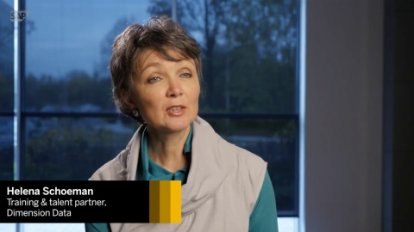 Image of a video about how Dimension Data uses SAP Enable Now to create training tools for its employees.