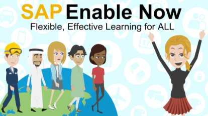 Image from a video about the e-learning tools you can build with SAP Enable Now