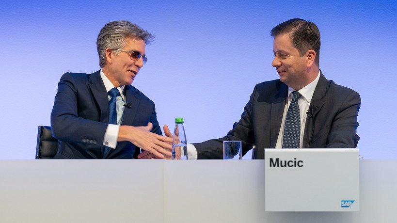 CEO Bill McDermott and CFO Luka Mucic