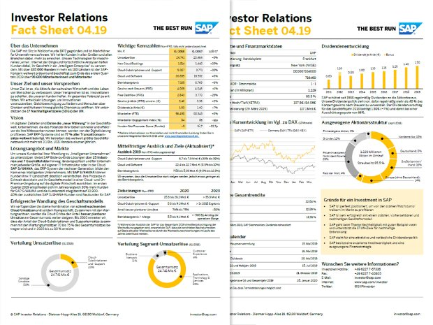 Vorschaubild des SAP Investor Relations Fact Sheet