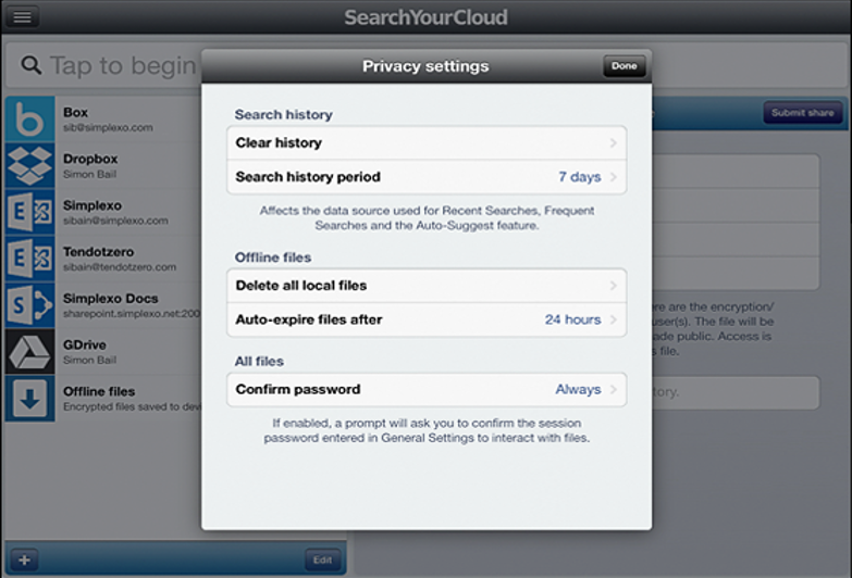 search your cloud privacy