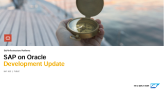 SAP on Oracle - Development Update