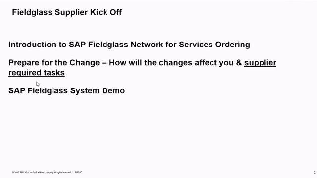 SAP Fieldglass Services Supplier Training Recording